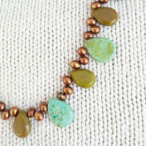 Vintage Artisan Natural Stone Boho Style Necklace